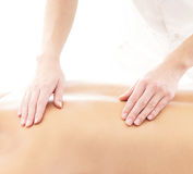 Back of a young woman on a massage procedure Royalty Free Stock Photography