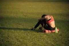 Backache, ból pleców, zmęczenie zdjęcie royalty free
