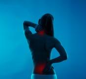 backache cierpienia kobieta obraz royalty free