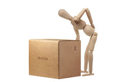 Backache Mannequin Box Transporting Safety Isolated Royalty Free Stock Photography