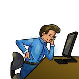 Backache In Office Royalty Free Stock Photography