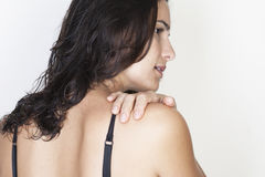Backache woman Royalty Free Stock Photography