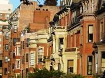 backbay σπίτια της Βοστώνης Στοκ εικόνα με δικαίωμα ελεύθερης χρήσης