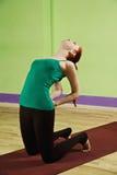 Backbending yoga pose Stock Photos