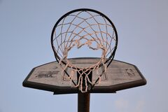 Backboard with basket Royalty Free Stock Images