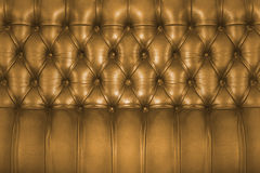 Backboard of a vintage chesterfield sofa Stock Photos