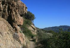 Backbone Trail Geology. Geology on the Backbone Trail, Malibu, CA Royalty Free Stock Image
