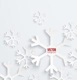 Backbround abstracto del papel 3D del copo de nieve de la Navidad libre illustration