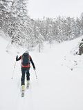 Backcountry滑雪者 图库摄影