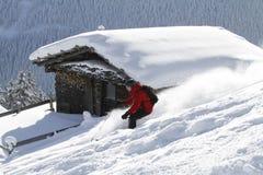 backcountry катание на лыжах блокгауза Стоковая Фотография