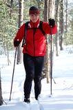 backcountry лыжник Стоковая Фотография RF