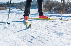 backcountry滑雪者 免版税图库摄影