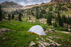 Backcountry campingplats Royaltyfria Bilder