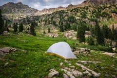 Backcountry-Campingplatz lizenzfreie stockbilder