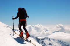 Backcountry climber Stock Images