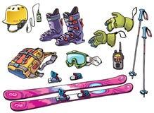 Backcountry freeride Material für die Skifahrer Lizenzfreie Stockfotografie
