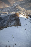 Backcountry het snowboarding Royalty-vrije Stock Afbeelding