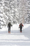 Backcountry hiking in winter. Backcountry hiking and skiing is fun stock image