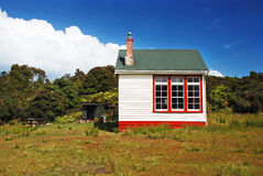 Backcountry hut. Made of old school, south of South island, New Zealand stock image