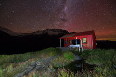 Backcountry Hut at Night Royalty Free Stock Photography