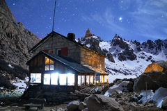 Backcountry Mountain Hut In Argentina Mountains Stock Images