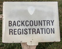 Backcountry Registration Book Stock Image