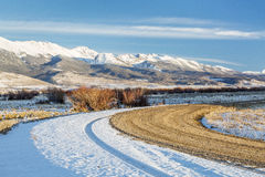 Backcountry road in Rocky Mountains Stock Images