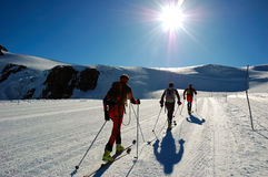 Backcountry ski stock images