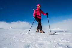 backcountry skidåkning Royaltyfria Bilder