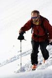 backcountry skier royaltyfri bild
