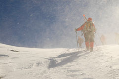 Backcountry skiers Stock Photography