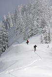 Backcountry skiers Stock Photo