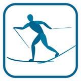 Backcountry Skifahrer Stockfoto