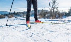 Backcountry Skifahrer Stockfotos