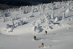 Backcountry Skiing 6 stock photo