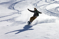 Backcountry snowboarding Stock Photo