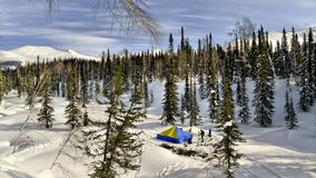 Backcountry tent Royalty Free Stock Photos