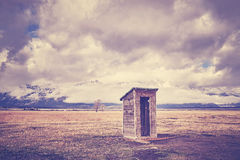 Backcountry toilet in the Grand Teton National Park, Wyoming, US Stock Images