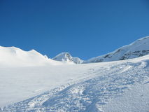backcounty катание на лыжах Стоковые Изображения RF