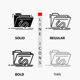 Backdoor, exploit, file, internet, software Icon in Thin, Regular, Bold Line and Glyph Style. Vector illustration. Vector EPS10 Abstract Template background vector illustration