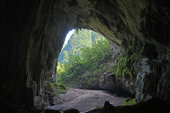 Backdoor of Hang En cave, the world's 3rd largest cave Stock Photos