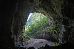Backdoor von Hang En-Höhle, die world's 3. größte Höhle Stockfotos