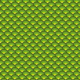 Backdrop 3d concentric pipes pattern in green yellow Royalty Free Stock Images