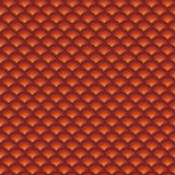 Backdrop 3d concentric pipes pattern in orange red Stock Image