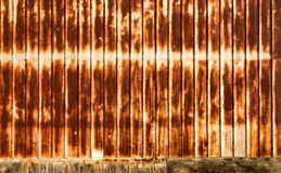 Backdrop or Background Rusty Corrugated Metal Wall Royalty Free Stock Images