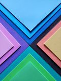 Abstract design with sheets of foamy in various colors. Backdrop for color and geometric pattern ads, creative style with material for design and crafts royalty free stock photo