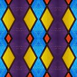 Abstract design with stained glass in various colors, material for decoration of windows, background and texture. Backdrop for colors related ads, geometric stock illustration