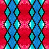 abstract design with stained glass in blue and red  colors, background and texture vector illustration