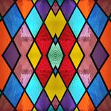 abstract design with stained glass in various colors, background and texture stock illustration