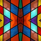 abstract design with stained glass in various colors, background and texture vector illustration